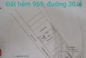 Bán đất hẻm 969 đường 30/4, phường 11, Tp. Vũng Tàu.